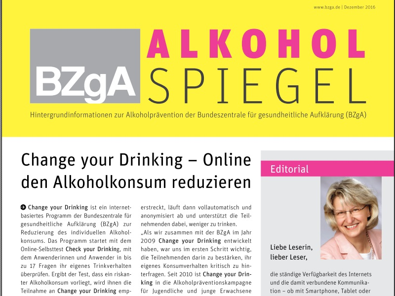 "Change your Drinking im ""Alkoholspiegel"""