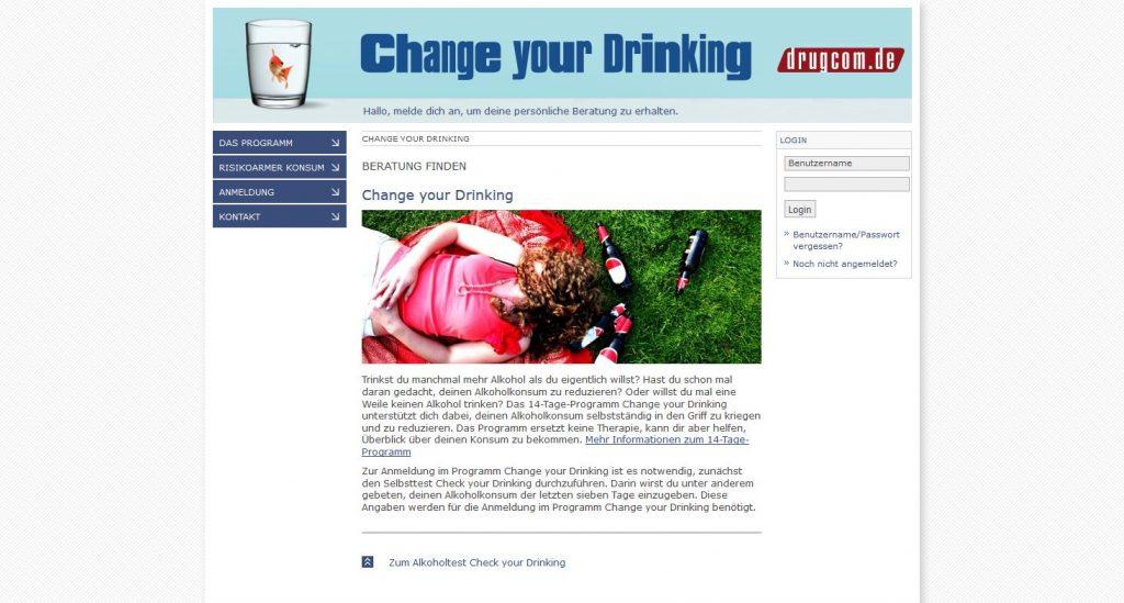 Change your Drinking: Alkoholkonsum online reduzieren