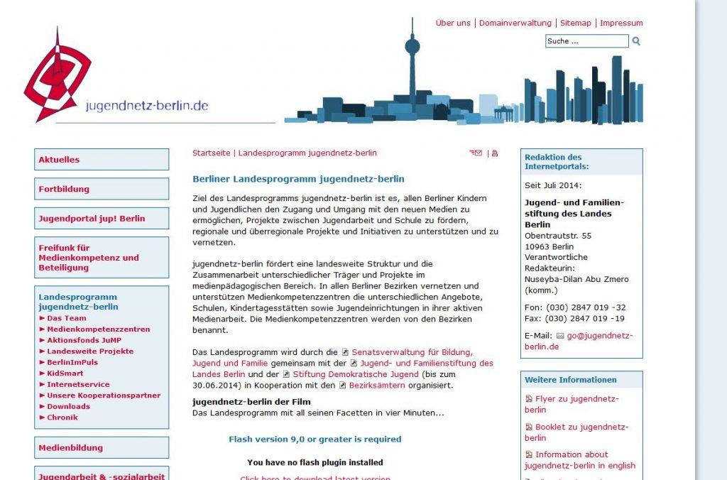 Evaluation jugendnetz-berlin.de 2011