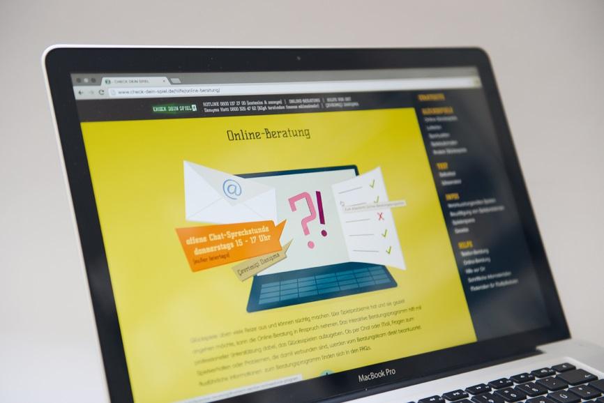 Check dein Spiel: Onlineberatung von Glücksspielsüchtigen