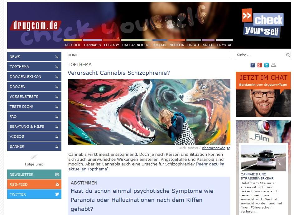drugcom.de Jahres- und Evaluationsbericht 2016